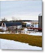 Western New York Farm As An Oil Painting Metal Print