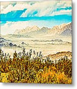 Western Panorama From Mountain At Joshua Tree National Park Metal Print