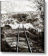 Western Tracks Metal Print