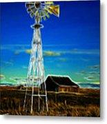 Western Windmill Metal Print by Steve McKinzie