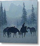 Western Winter Metal Print by Randy Follis