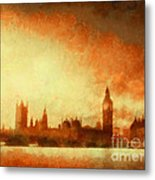 Westminster At Dusk Metal Print