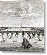 Westminster Bridge, London, Metal Print