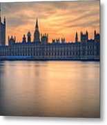 Westminster Nights Metal Print