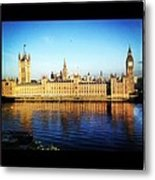 Westminster Reflections Metal Print by Maeve O Connell