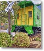Weston Railroad Crossing Metal Print