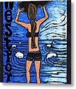 Westport Surfer Chick Metal Print