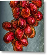 Wet Grapes Four Metal Print by Bob Orsillo