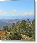 Wet Mountain Valley And Beyond Metal Print