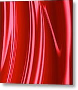 Wet Red Metal Print