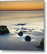 Wet Sunset Reflections Metal Print