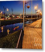 Embankment Of Weyburn Metal Print