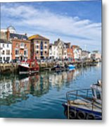 Weymouth Harbour Metal Print