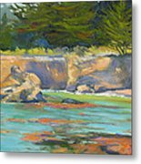 Whalers Cove Point Lobos Metal Print by Rhett Regina Owings