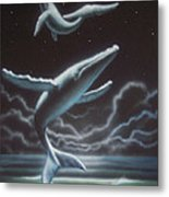 Whales in the Sky Metal Print