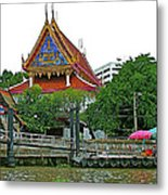 Wharf Along Waterway Of Bangkok-thailand Metal Print