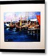 Wharf Scene Metal Print