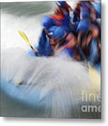 White Water Rafting What A Rush Metal Print