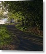 What Comes Around The Bend Metal Print