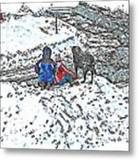 What Fascinates Children And Dogs -  Snow Day - Winter Metal Print