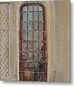 What Is Behind The Window Pane Metal Print