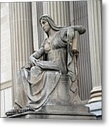 What Is Past Is Prologue Statue At National Archives -- 2 Metal Print