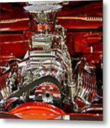 What Is Under The Hood-red Customized Retro Pontiac Metal Print