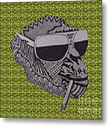 Whatssup Dawg Green Metal Print