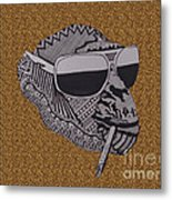 Whatssup Dawg  Leopard Metal Print