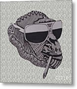 Whatssup Dawg Light Grey Metal Print