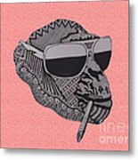 Whatssup Dawg Pink Metal Print