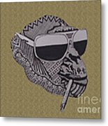 Whatssup Dawg Sand Metal Print