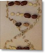 Wheat Dna Vertical Metal Print