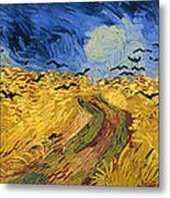 Wheat Field With Crows Metal Print