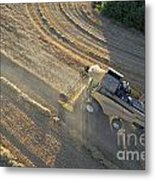 Wheat Harvest In Provence Metal Print