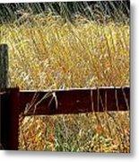 Wheat N' Fence Metal Print