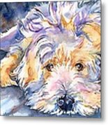 Wheaten Terrier Painting Metal Print
