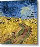 Wheatfield With Crows Metal Print