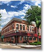 Wheaton Front Street Panorama Metal Print
