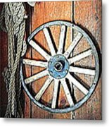 Wheel An Rope Metal Print
