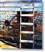 Wheel And Ladder Metal Print