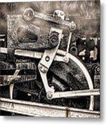 Wheel And Steam Metal Print