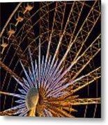 Wheel At Night Niagara Falls Metal Print