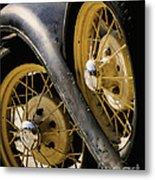 Wheel To Wheel Metal Print