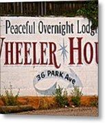 Wheeler House Metal Print
