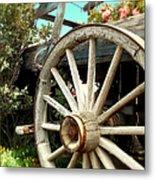 Wheels And Blooms Metal Print