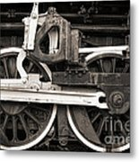 Wheels And Rods Metal Print