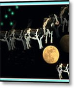 When Cows Jump Over The Moon Metal Print