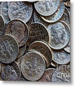 When Dimes Were Made Of Silver Metal Print
