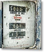 When Gas Made Cents Metal Print